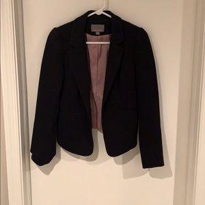 Angled Front Black Blazer